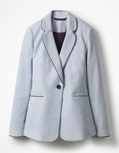 Read more about Lilah cotton blazer navy women boden navy
