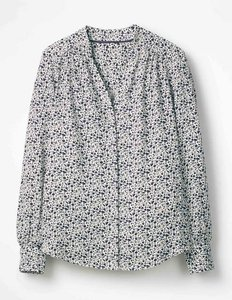 Read more about Annora blouse navy women boden navy