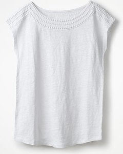 Read more about Linen boatneck jersey top white women boden white