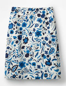 Read more about Printed cotton a-line skirt blue women boden blue
