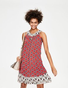 Read more about Printed swing dress red women boden red