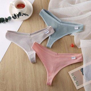 Womens Panties G-string Thong Cotton