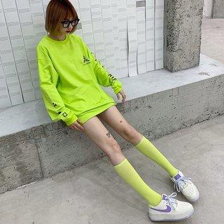 Womens Socks Calf Socks Fluorescence