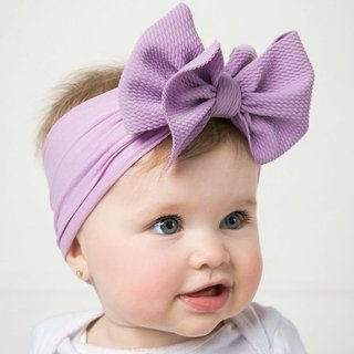 Solid Big Bow Topknot Headband for Baby