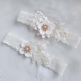 Wedding Bridal Garter Rhinestone Pearl