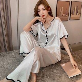 Summer Cardigan Pajamas Womens