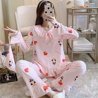 Spring and Autumn Pajamas Womens Cotton