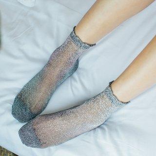 Women Shiny Socks Trendy Fashion Girls