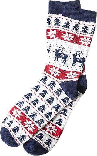 Year Christmas Funny Elk Socks Cotton