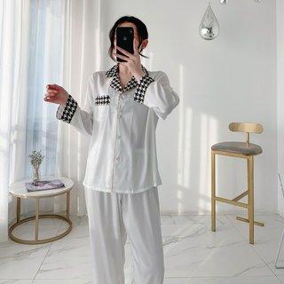 Wmyqdlq Ice Silk Pajamas Set Womens