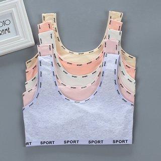 girls bra vest cotton sports summer