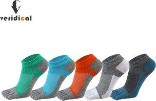 VERIDICAL Pure Cotton Five Finger Socks