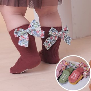 0-5 Years Kids Bows Knee High Long Soft