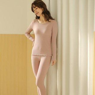 Womens Pajamas Pure Cotton Dark Pink