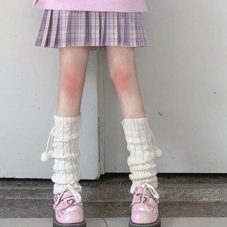 Women Knit Winter Leg Warmers Loose