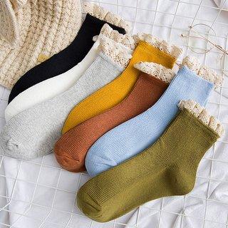 lace frilly ruffle socks kawaii cute
