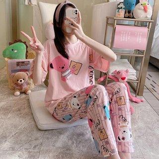 Striped Bear Pajamas Womens Summer