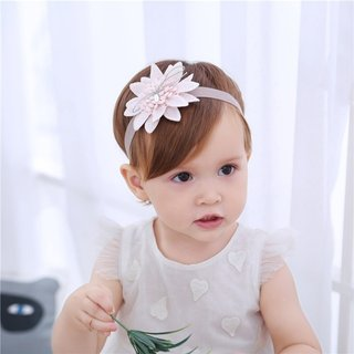 White Lotus Headband Childrens Baby