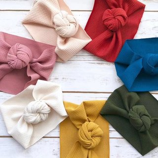 Cute Solid Color Baby Turban Girls