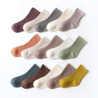Spring Baby Socks Solid Color Cotton