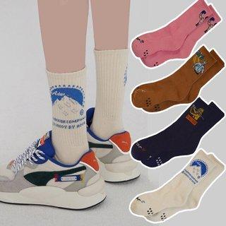 character Socks Woman Creative Women