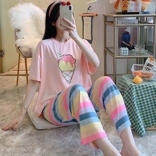 Summer Pajamas Womens Cute Ice Cream