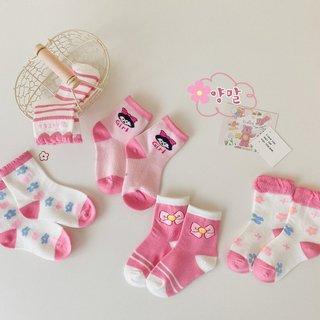 Spring Autumn Girls Socks Cute Baby