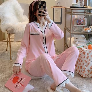 Spring and Autumn Pajamas Womens Lace