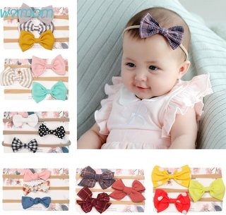 Warmom 3PCS/lot Bowknot Baby Girls