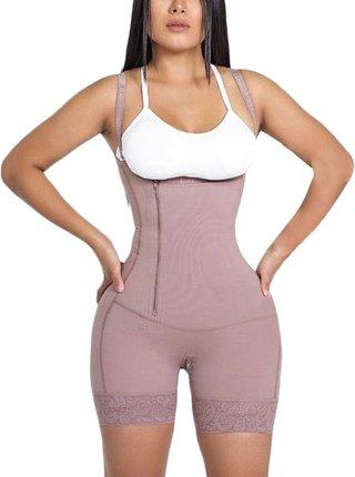 Women Bodysuit Side Zipper Shapewear