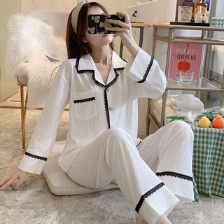 Sweet Lace Pajamas Womens Spring and