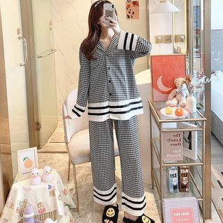 Spring and Pajamas Female Cotton Long