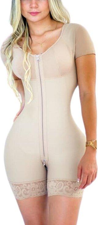 WomenS Corset Front Zipper Short