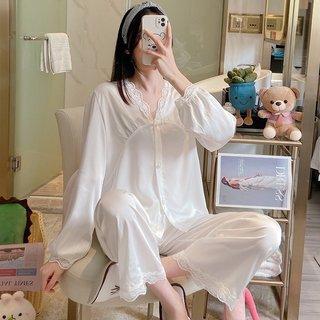 White Lace Pajamas Womens Spring and