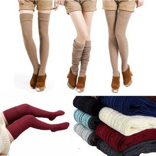 Knee Socks Women Cotton Thigh High Over