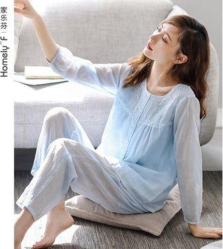 Woven Cotton Gauze Pajamas Womens
