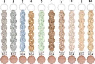 Vintage Crochet Pacifier Clip Baby