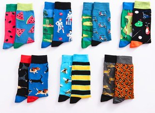 personality left and right socks trendy