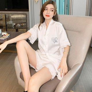 White Love Pajamas Womens Summer Short