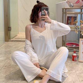 Womens Suspender Pajamas Spring and