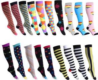 Sports compression socks mens striped