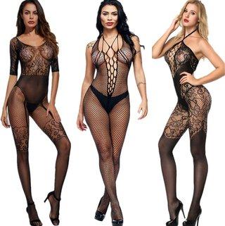 Women Sexy Stockings Full Romper for