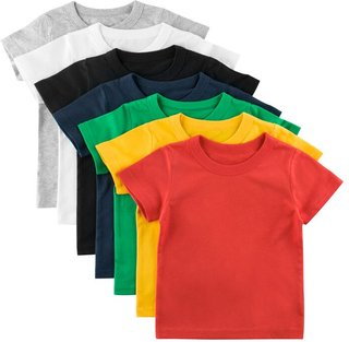 Solid Color Short Sleeve Cotton T-shirt