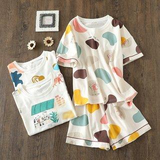 Womens Pajamas Pure Cotton Short Sleeve