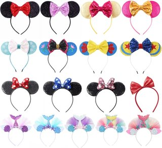 VOGUEON Cute Glitter Bow Mouse Ears