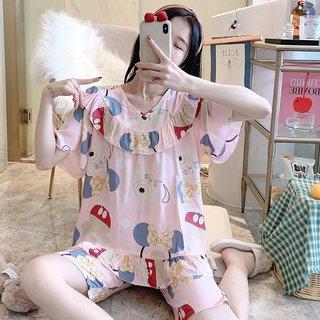 Summer Poplin Pajamas Womens Thin Ice