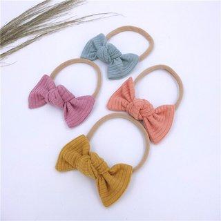 Toddler Fashion Knitting Cotton Bows