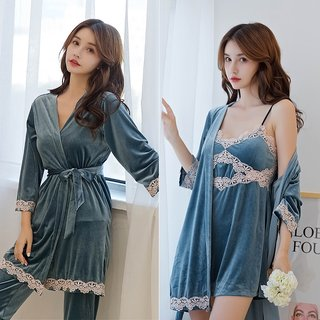 jin si rong Seven-Piece Pajamas Female