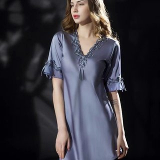 Summer Ice Silk Thin Nightdress For