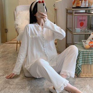 Womens Cotton Pajamas Spring Autumn